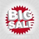 Big sale tag — Stock Vector #8454443