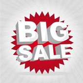 Big sale tag — Stock Vector