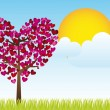 Stock Vector: Heart tree