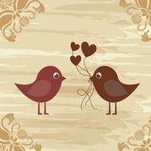 Birds couple — Stock Vector