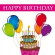 Royalty-Free Stock Imagem Vetorial: Happy birthday card