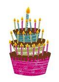 Cake happy birthday — Stock Vector