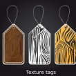 Texture tags — Stock Vector