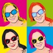 Royalty-Free Stock Vector Image: Pop art woman