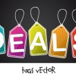 Stock Vector: Deals tags