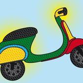 Pop art motorbike — Stock Vector
