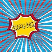 Bang comic — Stock Vector