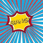 Bang çizgi — Stok Vektör