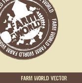 Farm world — Stock Vector