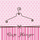 Cute hanger — Stock Vector