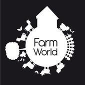 Rolnicze świata — Wektor stockowy
