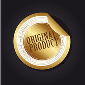Original product label — Stock Vector