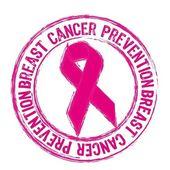 Preventie van de kanker van de borst — Stockvector