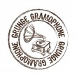 Royalty-Free Stock Vector Image: Grunge gramophone stamp