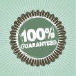 100 guaranteed — Stock Vector