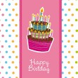 Royalty-Free Stock Vektorfiler: Happy birday