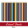 Colored pencil  set — Vettoriali Stock