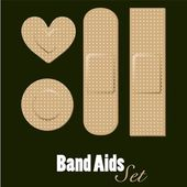 Band aids set — Stockvector