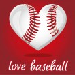 I love baseball — Vector de stock
