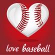 Jag älskar baseball — Stockvektor
