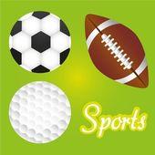 Sports balls illustration — Stock Vector