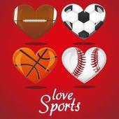 I love sports — Stock Vector
