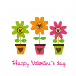 Happy valentines day — Image vectorielle