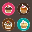 Cute cakes — Stock Vector