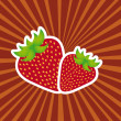Strawberry vector — Stock Vector
