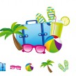 Summer elements — Stock Vector #9709397