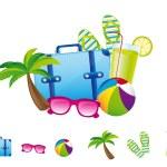 Summer elements — Stock Vector