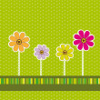 Stockvector : Cute flower background