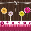 Stockvector : Cute flowers