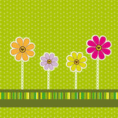 Cute flower background — Vector de stock