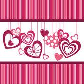 Χαριτωμένο καρδιές — Διανυσματικό Αρχείο