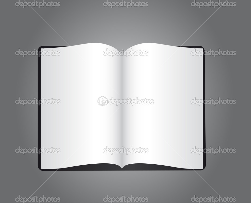 Blank book over gray background. vector illustration — Stock Vector #9838368