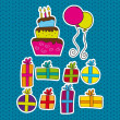 Birthday elements — Imagen vectorial