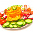 Different vegetables on a plate — Stock Photo