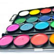 Box of paints close-up - Stock Photo