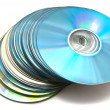 Many different cd's — Stock Photo