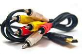 Composit & HDMI video cables — Stock Photo