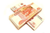 Two stack of Russian banknotes — Stock Photo