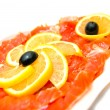 Fresh smoked salmon close-up — Stock Photo #9663829
