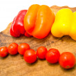 Stock Photo: Cherry tomatoes and peppers