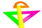 Kolorowe linijki z bliska — Zdjęcie stockowe