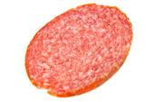 Single slice of cervelat — Stock Photo
