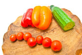Vegetables on a cutting board close-up — Stock Photo