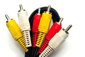 Colorful composite cables — Stock Photo