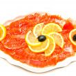 smoked salmon — Stock Photo