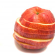 Red apple slices on white - Stock Photo